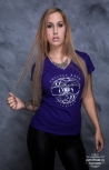 "Girlyshirt ""LifeRider"" L Purple"
