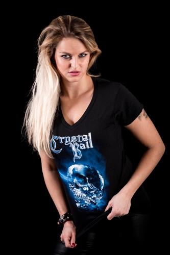 "Girlyshirt ""Crystallizer"" Skull"