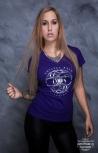 """Girlyshirt """"LifeRider"""" S Purple"""